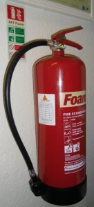 fire extinguisher in glasgow office