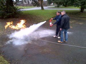 fire warden course live fire with extinguisher