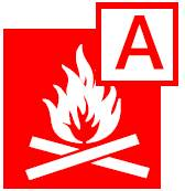class a fire pictogram