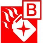 Class B fire pictogram