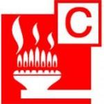 Class C fire pictogram