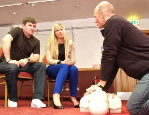 first aid CPR at work