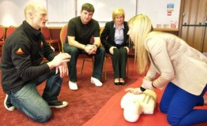 HSE 3 day training course doing CPR
