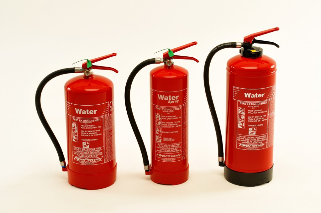 NEW FIREPOWER RANGE OF WATER FIRE EXTINGUISHERS