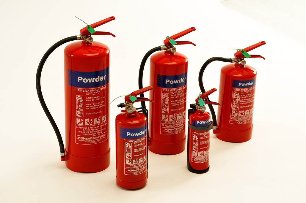 Firepower dry powder fire extinguisher new range