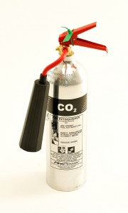 new firepower co2 fire extinguisher - polished aluminium