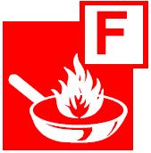 class f fire pictogram