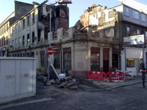 george bar in paisley burned out photo