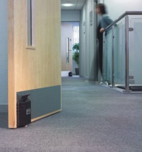 dorgard attached to a fire door