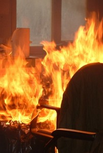 fire in an office